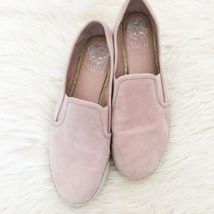 Vince Camuto Tambie Suede Slip On Shoes